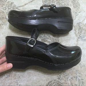 Dansko MaryJane Black Patent Leather Clogs